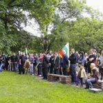 Български национален съюз пред паметника