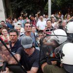 протест в солун срещу гей парада